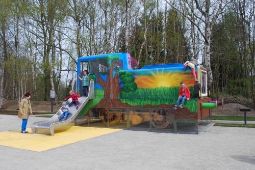 umgebaute Lokomotive